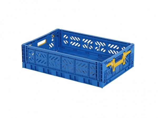 MULTIWAY klapkrat - 600x400xH156mm - blauw - gele grepen