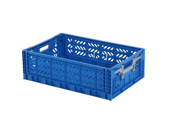MULTIWAY klapkrat - 600x400xH180mm - blauw - grijze grepen