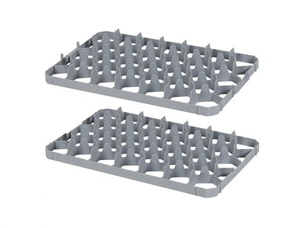 Set vakverdelingen 33 vaks voor stapelkrat - vakafmeting 75 x 75 mm