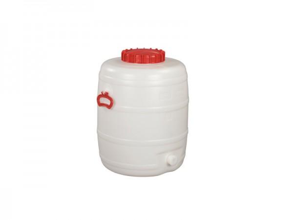 Kunststof vat met uitloop - 80 liter - naturelwit