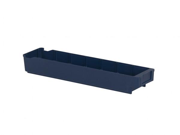 Kunststof magazijnbak - 600x115xH100mm - blauw
