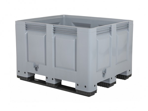 Palletbox 1200 x 100 x H 790 mm - 3 sledes - grijs