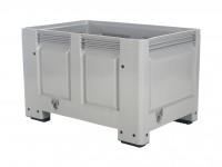 Kunststof palletbox - 1200x800xH760mm - op 4 poten - grijs 4403.100.554