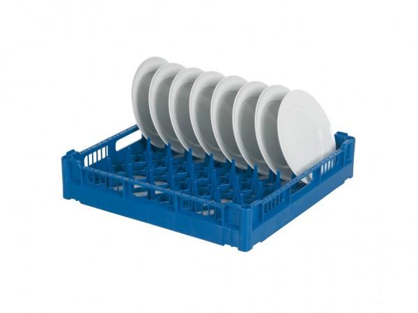 Bordenkorf 500x500mm - voor 16 platte of 12 diepe borden - blauw