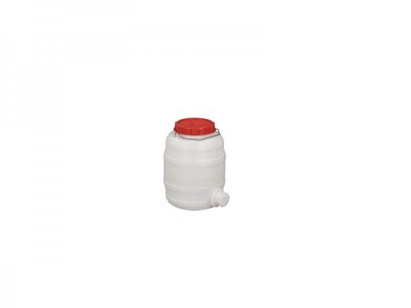 Kunststof vat met uitloop - 10 liter - naturelwit