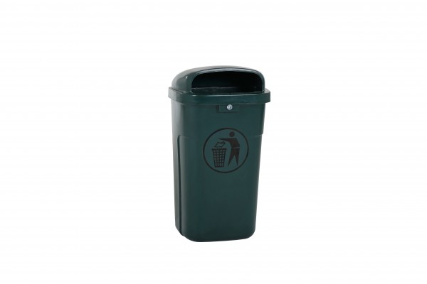 Afvalbak 50 liter - vuurbestendig - groen