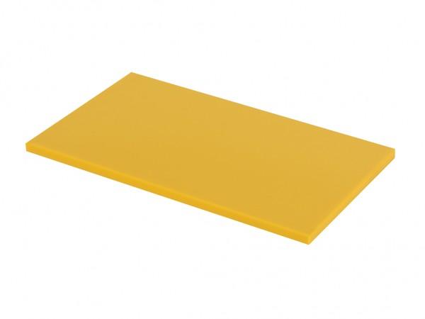 Kunststof snijplank - 600x350x20mm- geel