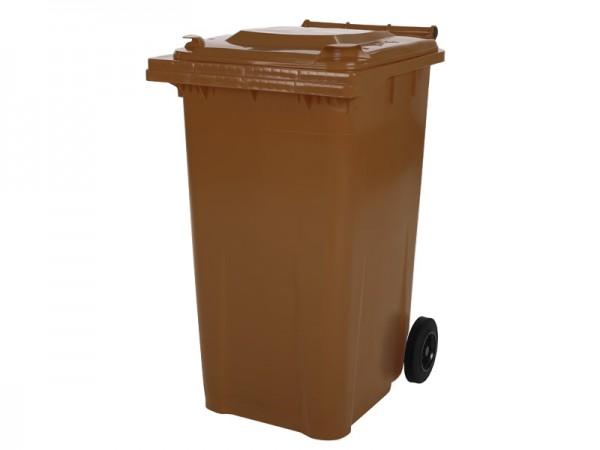 2-wiel afvalcontainer - 240 liter - bruin
