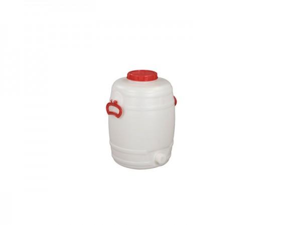 Kunststof vat met uitloop - 30 liter - naturelwit