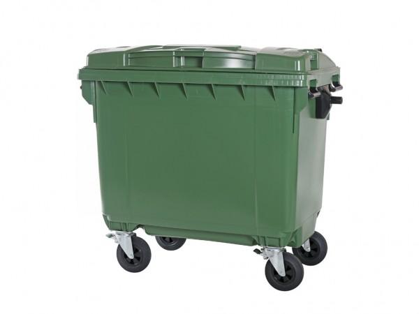 4-wiel afvalcontainer - 660 liter - groen