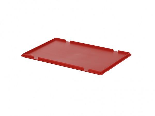 Kunststof scharnierdeksel 600x400mm - rood