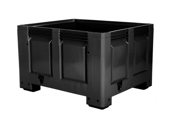 Palletbox - 1200x1000mm - op 4 poten - zwart