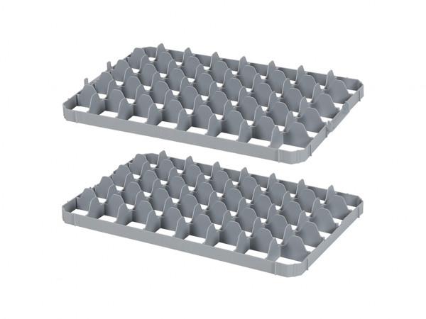 Set vakverdelingen 40 vaks voor stapelkrat - vakafmeting 69 x 67 mm